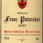 Château Franc Patarabet - Vintage 2007