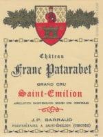 Étiquette du château Franc Patarabet vers 1930