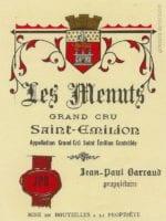 Étiquette du château Franc Patarabet vers 1930 pour la cuvée les Menuts
