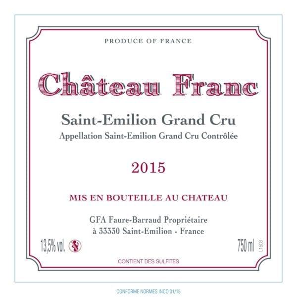 Chateau Franc Saint-Emilion Grand Cru 2015