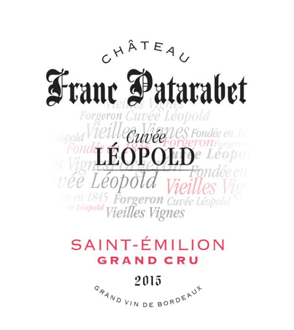 Chateau Franc Patarabet Saint Emilion Grand Cru Cuvee Leopold 2015