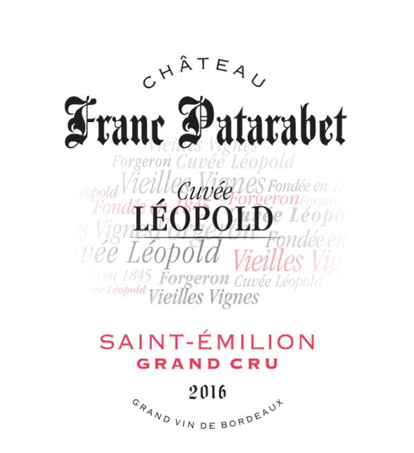 Chateau Franc Patarabet Saint Emilion Grand Cru Cuvee Leopold 2016