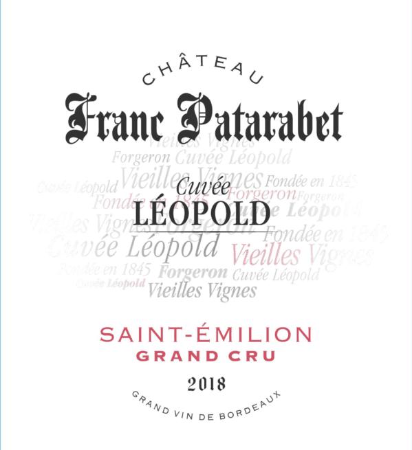 Château Franc Patarabet Cuvée Leopold- Saint-Emilion Grand Cru - 2018